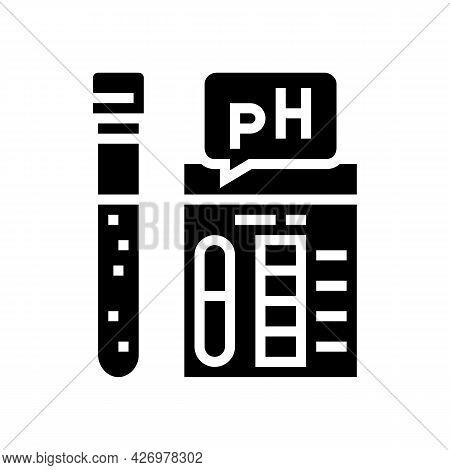 Ph Soil Testing Glyph Icon Vector. Ph Soil Testing Sign. Isolated Contour Symbol Black Illustration
