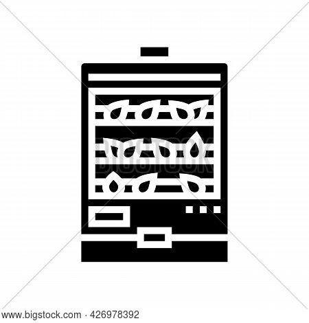 Steaming Tea Glyph Icon Vector. Steaming Tea Sign. Isolated Contour Symbol Black Illustration