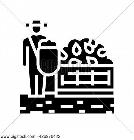 Harvesting Tea Glyph Icon Vector. Harvesting Tea Sign. Isolated Contour Symbol Black Illustration