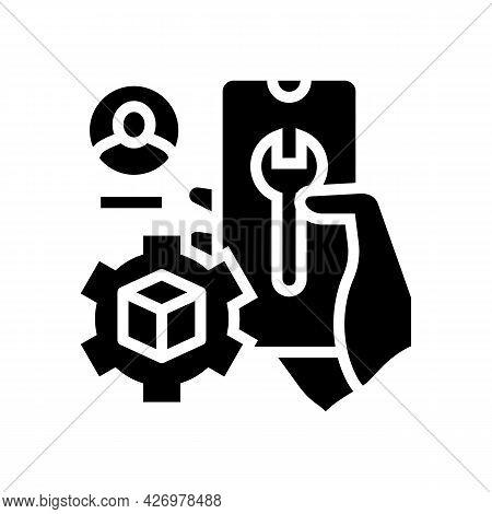 Settings And Fixing Account Ugc Glyph Icon Vector. Settings And Fixing Account Ugc Sign. Isolated Co