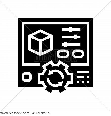 Setting Ugc Glyph Icon Vector. Setting Ugc Sign. Isolated Contour Symbol Black Illustration