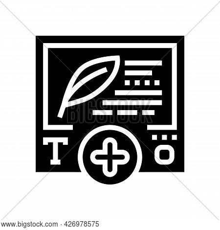 Text Content Ugc Glyph Icon Vector. Text Content Ugc Sign. Isolated Contour Symbol Black Illustratio