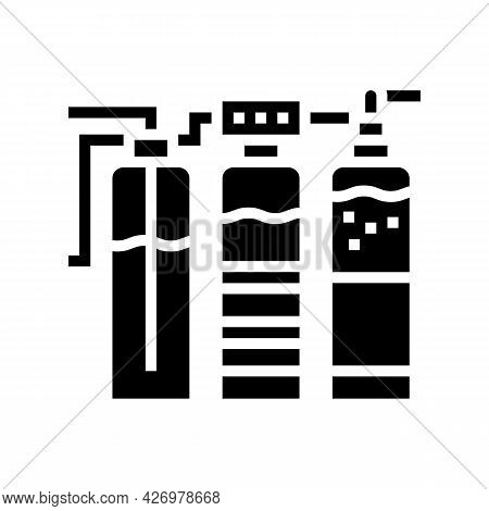 Water Different Filtration Filter Glyph Icon Vector. Water Different Filtration Filter Sign. Isolate