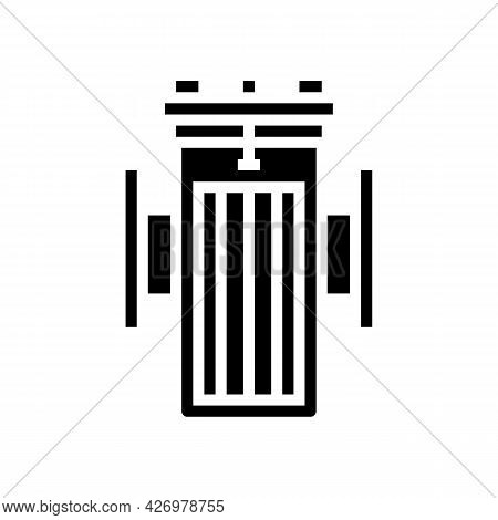 Water Filter Equipment Glyph Icon Vector. Water Filter Equipment Sign. Isolated Contour Symbol Black