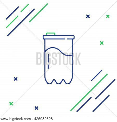 Line Water Filter Cartridge Icon Isolated On White Background. Colorful Outline Concept. Vector