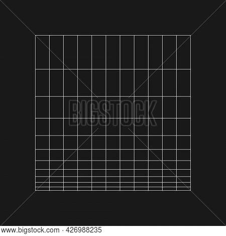 Digital Cyber Retro Logarithmic Grid. Retrofuturistic Design Element. Grid In Cyberpunk 80s Style. R