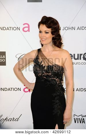 LOS ANGELES - FEB 24:  Bellamy Young arrives at the Elton John Aids Foundation 21st Academy Awards Viewing Party at the West Hollywood Park on February 24, 2013 in West Hollywood, CA
