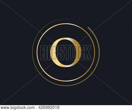 Initial Gold Letter O Logo Design. O Logo Design With Luxury Concept