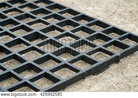 Black Plastic Grille Used For Placing Pots, Various Items Vertical Gardening, Hanging Pots Plants, G