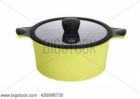 Bright Colorful Home Cookware For Cooking Different Dishes On The Stove