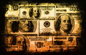 A American US Dollars Currency Abstract Background poster