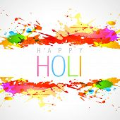 vector colorful holi festival background poster