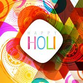 vector indian style holi background design poster