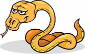 Cartoon Illustration of Funny Snake Reptile Animal poster