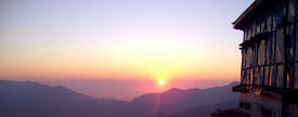 sunset in simla