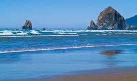 Rugged Rocky Beach On The Oregon Coast Featuring Haystack Rock