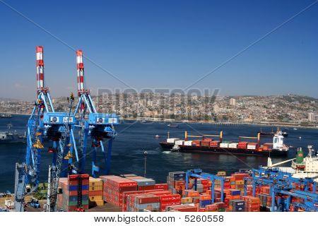 Port In Valparaiso