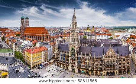 City Hall in Munich, Germany.
