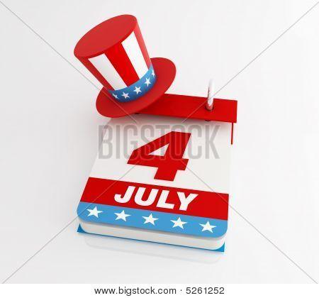 Calendário de quatro de julho