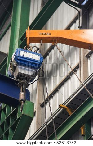 Small Hoist In The Factory
