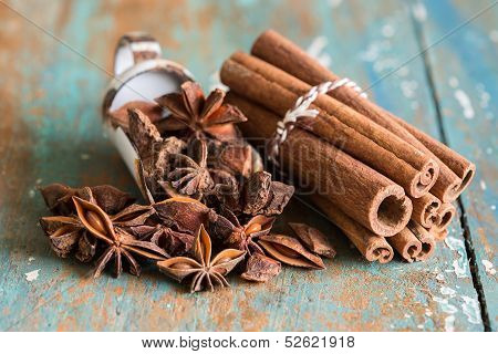 Closeup Of Spices
