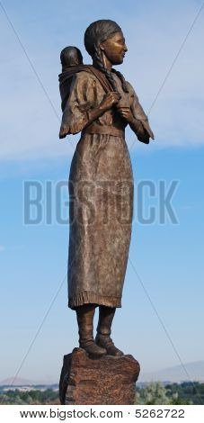Sacajawea Bronze Statue