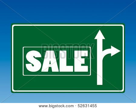 Sale road sign