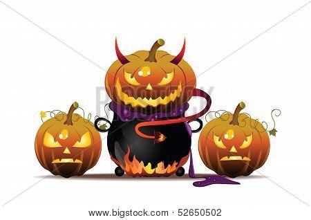 Pumpkin in Pot