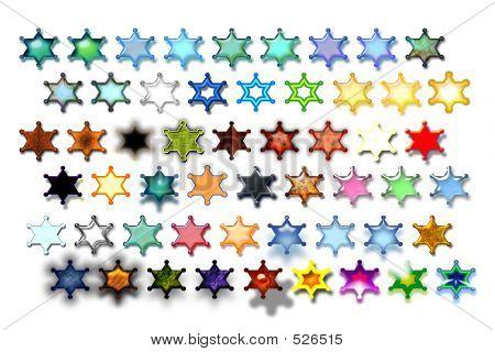 Illustarions Sheriff Star 04