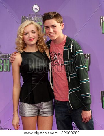 LOS ANGELES - OCT 20:  Peyton List, Spencer List at the Hub Network First Annual Halloween Bash at Barker Hanger on October 20, 2013 in Santa Monica, CA
