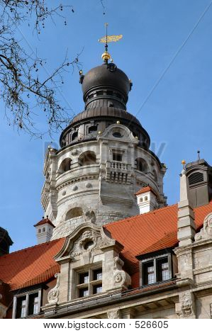 City Hall Dome In Leipzig, Germany
