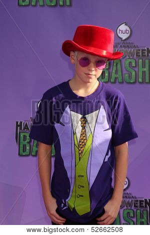 LOS ANGELES - OCT 20:  Carson Lueders at the Hub Network First Annual Halloween Bash at Barker Hanger on October 20, 2013 in Santa Monica, CA