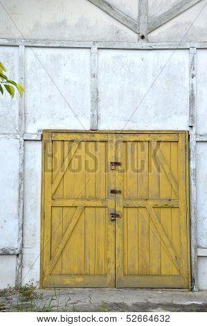 Old Yellow Wooden Doors