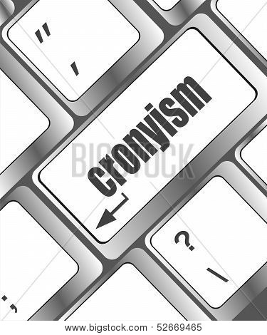 Cronyism On Laptop Keyboard Key