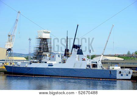 Navy boat Glasgow
