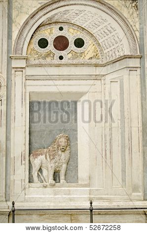 Lion Sculpture, Venice Hospital