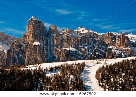 Sassongher mountain