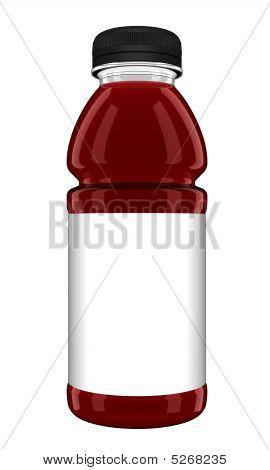 Fancy Drink Bottle With Blank Label