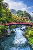 Sacred Bridge of Nikko, Japan. poster