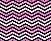 Pink White and Black Zigzag Pattern Background that is seamless and repeats poster