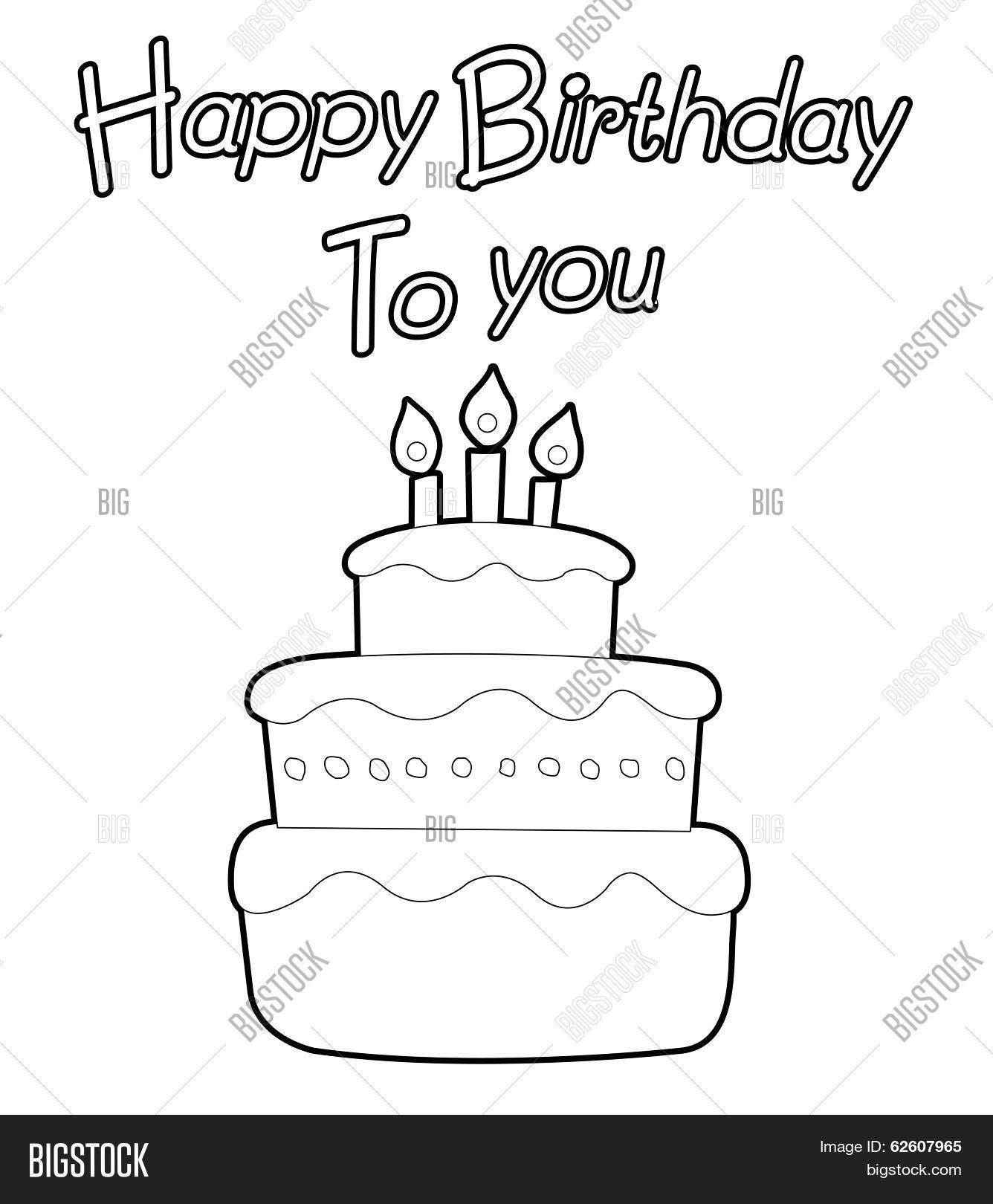 Cake Coloring Book Vector & Photo (Free Trial) | Bigstock