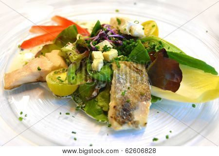 Gourmet served fresh prepared dish