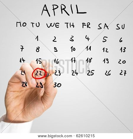 The Date Of April 22, International Earth Day