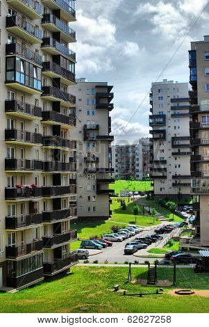 Vilnius Today. New Buildings And Nature.