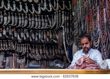 Selling knives in Yemen