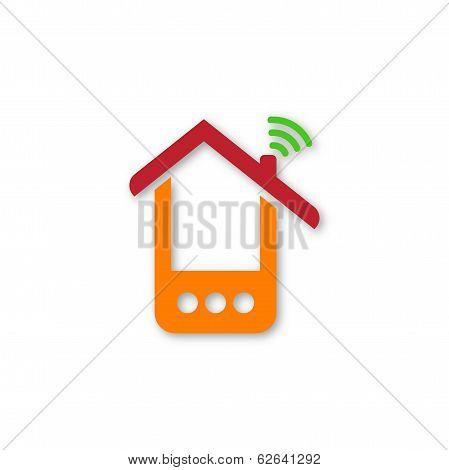 Orange phone house