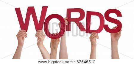 Hands Holding Words