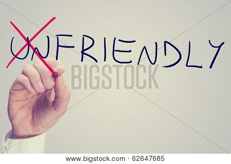 Changing The Word Unfriendly Into Friendly
