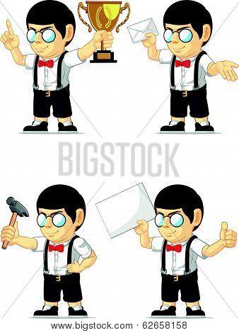 Nerd Boy Customizable Mascot