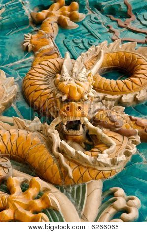 Chinese Traditional Imperial Dragon Rushes Toward The Enemy.